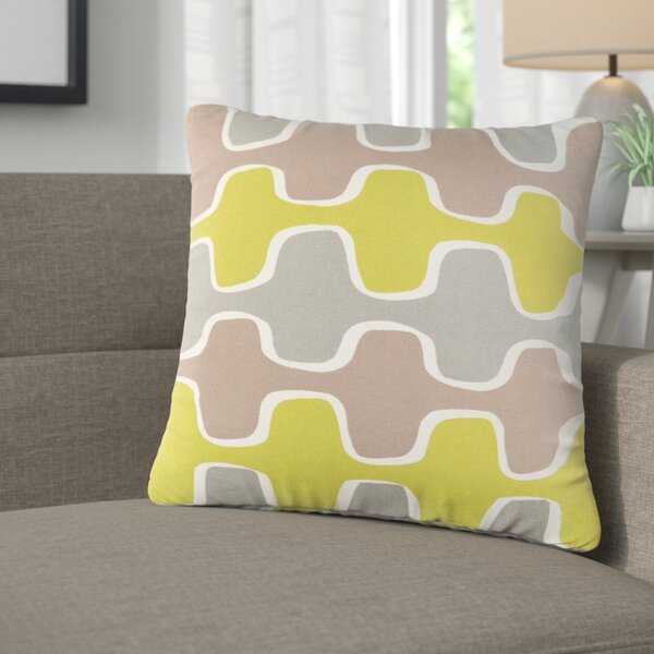 Arsdale Graphic Print Cotton Throw Pillow by Langley Street