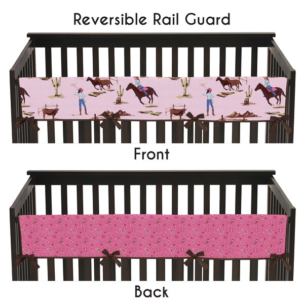 Cowgirl Long Crib Rail Guard Cover by Sweet Jojo Designs