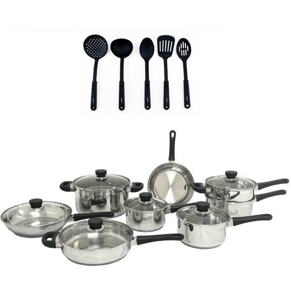 CooknCo 19 Piece Stainless Steel Cookware Set by BergHOFF International