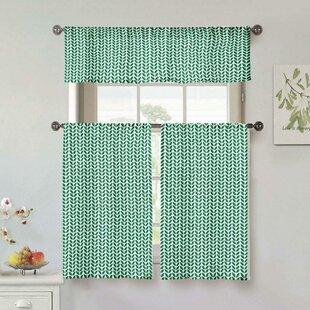 Tollens 3 Piece Kitchen Curtain Set