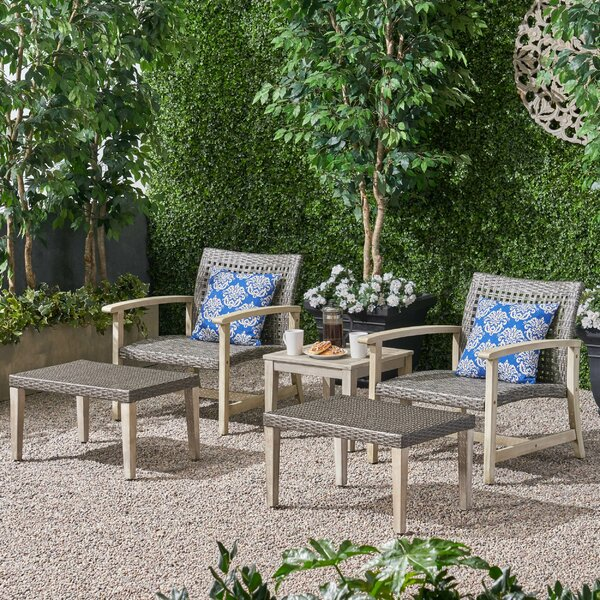 Spann 5 Piece Seating Group by Bayou Breeze Bayou Breeze