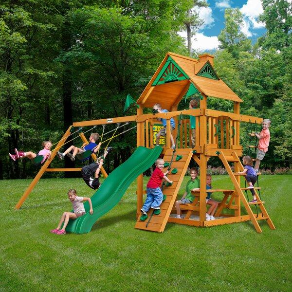Chateau II Cedar Swing Set by Gorilla Playsets