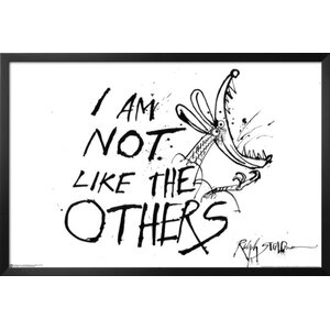 Hunter S. Thompson Quote 'I am Not Like the Others' by Ralph Steadman Framed Textual Art by Buy Art For Less