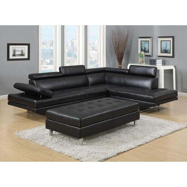 Alemany Right Hand Facing Sectional With Ottoman By Orren Ellis