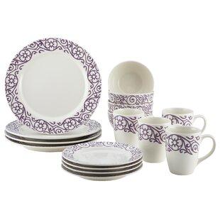 Cucina 16 Piece Dinnerware Set Service for 4  sc 1 st  Wayfair & Purple Plate Set | Wayfair