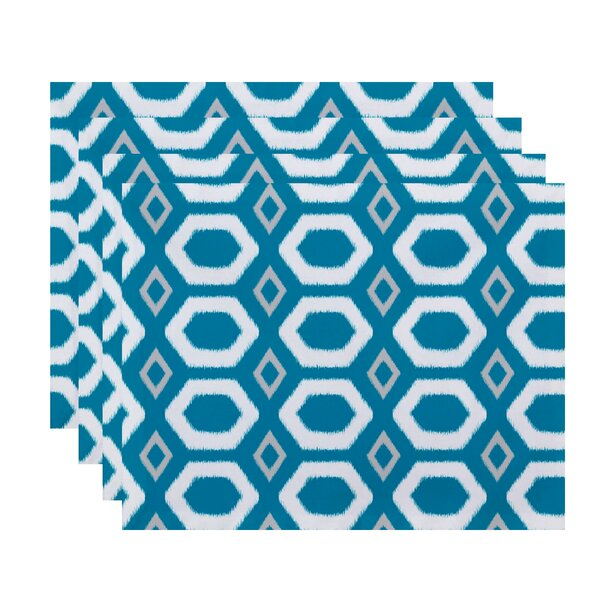 Aymeline Geometric Placemat (Set of 4) by Ivy Bronx