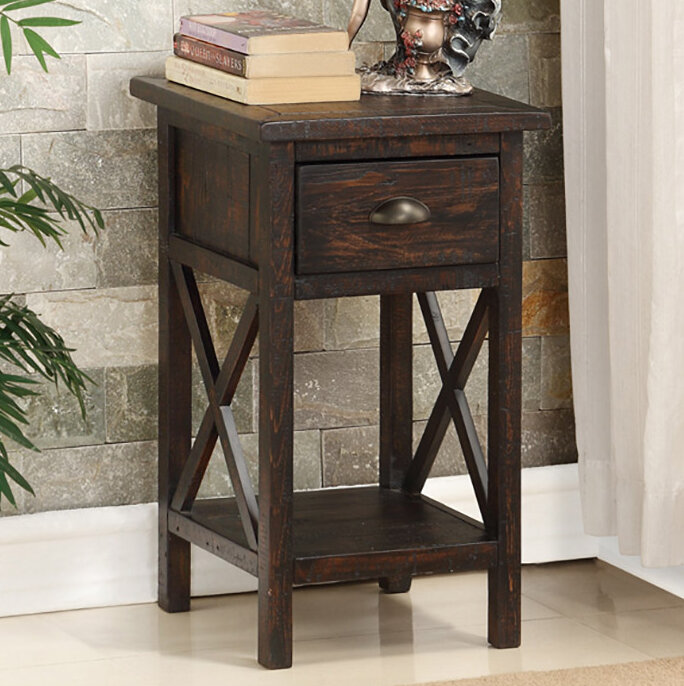 Finest Loon Peak Patchell End Table & Reviews | Wayfair JQ21