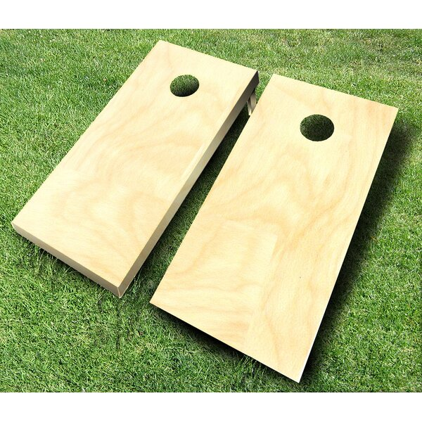 10 Piece Plain Cornhole Set by AJJ Cornhole