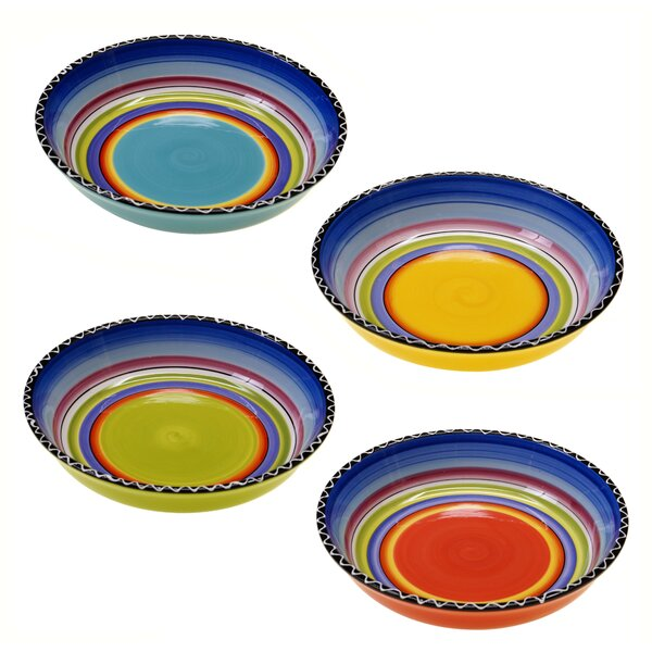 Recinos Soup/Pasta Bowl (Set of 4) by World Menagerie