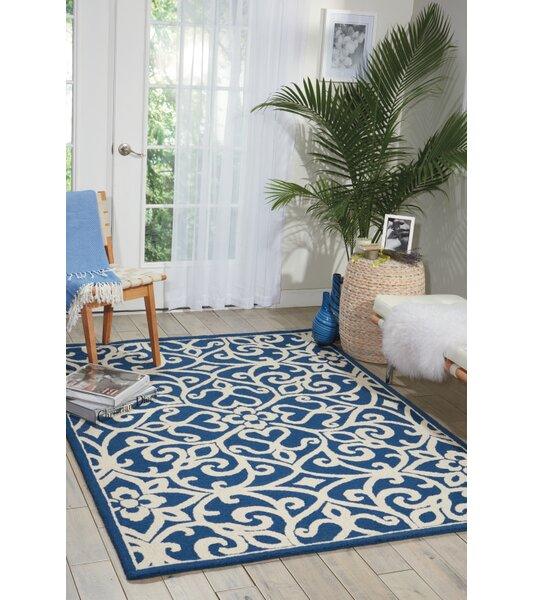 Hockenberry Hand-Woven Wool Navy/Ivory Area Rug by Darby Home Co