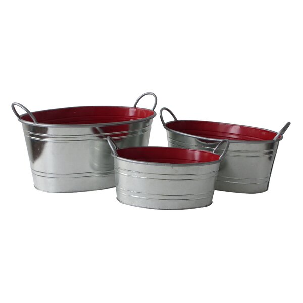 3-Piece Metal Pot Planter Set by Cheungs