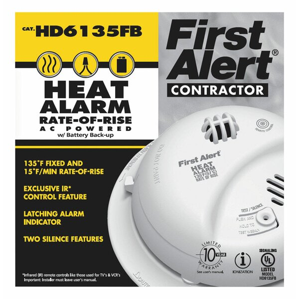 Hard-Wired Thermistor Heat Alarm by First Alert
