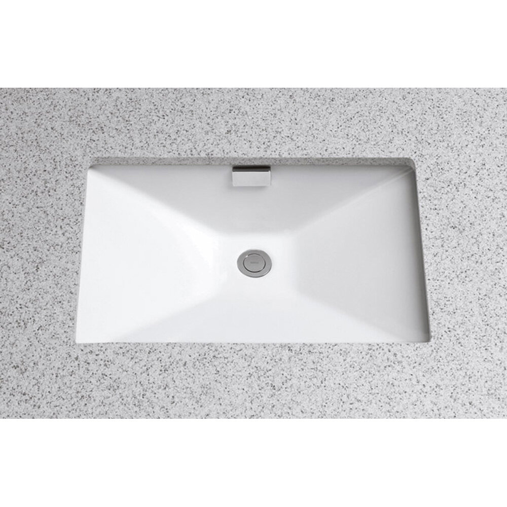 lovely Toto Undermount Sink Rectangular Part - 11: Toto Lloyd Ceramic Rectangular Undermount Bathroom Sink with Overflow u0026  Reviews | Wayfair