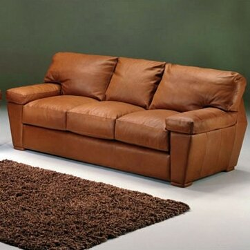 Prescott Leather Sofa by Omnia Leather
