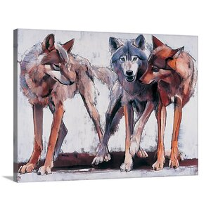 'Pack Leaders, 2001' by Mark Adlington Painting Print on Canvas by Great Big Canvas