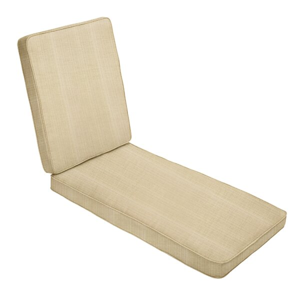 Hinged Outdoor Sunbrella Chaise Lounge Cushion by Red Barrel Studio