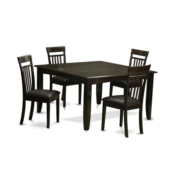 Pilning 5 Piece Wood Dinning Set by August Grove