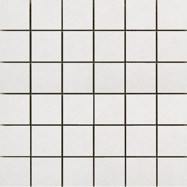 Perspective Pure 12 x 12 Porcelain Mosaic Tile in White by Emser Tile
