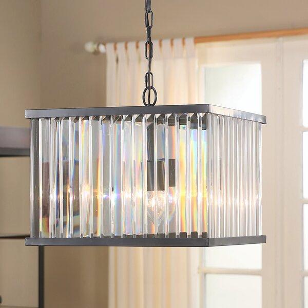 Overton 4 - Light Shaded Rectangle / Square Chandelier By Mercer41