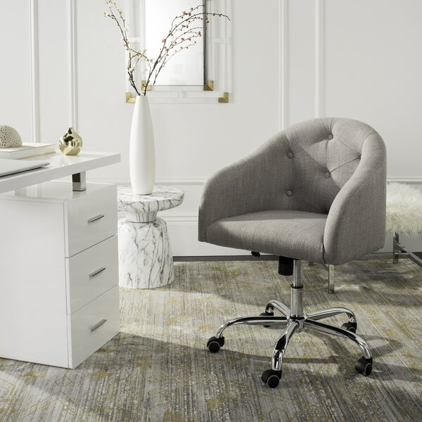 Randall Tufted Swivel Low-Back Desk Chair by Willa Arlo Interiors