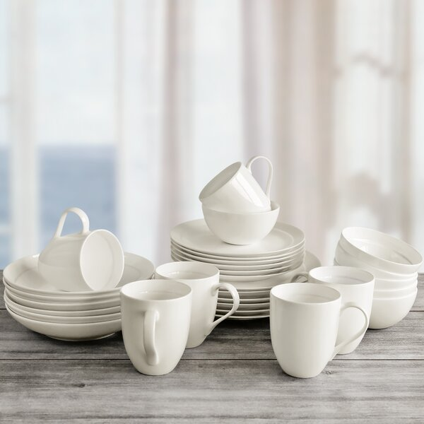 Maguire 30 Piece Bone China Dinnerware Set, Service for 6 by Alcott Hill
