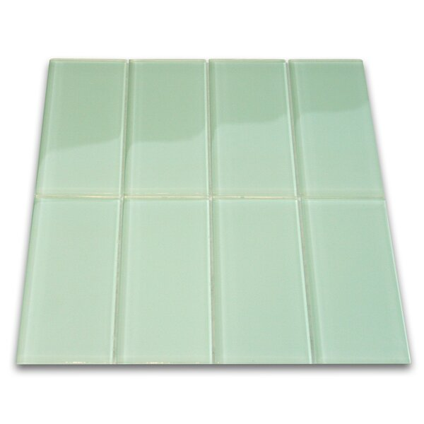 Xenon 3 x 6 Glass Mosaic Tile in Surf by CNK Tile