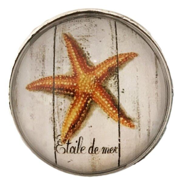 Starfish Ocean Glass Circle Novelty Knob by Shabby Restore