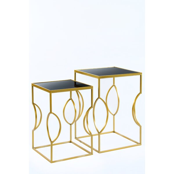 Set of 2 Clemence Side Tables by Statements by J