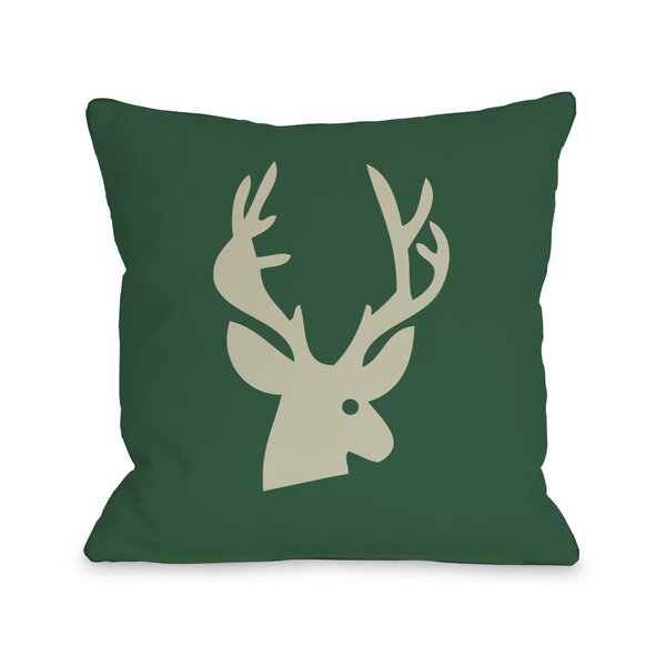 Deer Plaid Throw Pillow by One Bella Casa