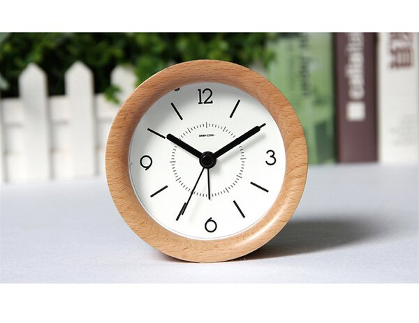 Beech Tabletop Clock by George Oliver