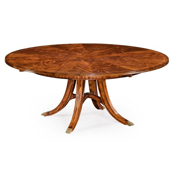 Windsor Extendable Solid Wood Dining Table by Jonathan Charles Fine Furniture Jonathan Charles Fine Furniture