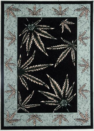 Tallman Black/Duck Egg Blue Area Rug by Red Barrel Studio