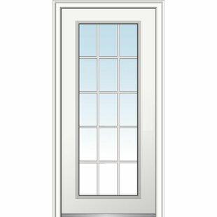 15 Lite Fibergl Smooth Primed Prehung Front Entry Door