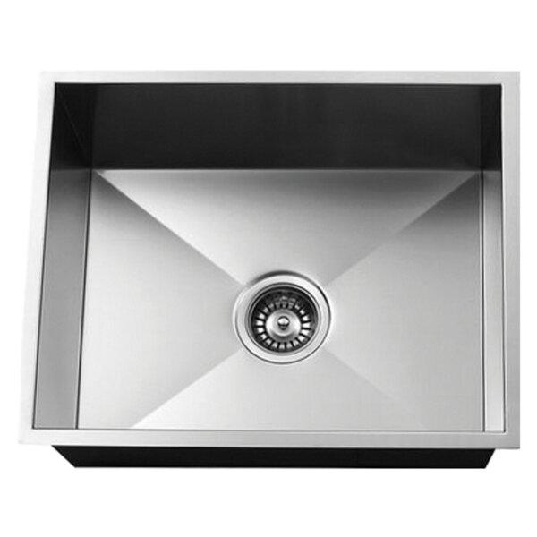Solution Stainless Steel 24 L x 19 W Undermount Bar Sink