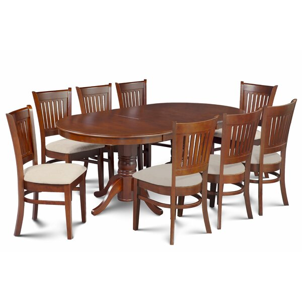 Miriam 9 Piece Extendable Solid Wood Dining Set by Breakwater Bay