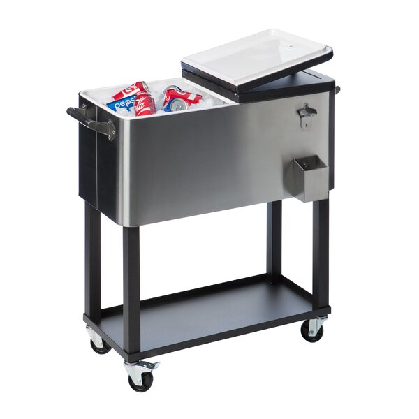patio rolling coolers ice com party cooler garden serving browse drink walmart cart carts chest