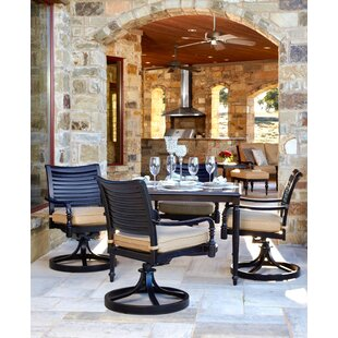 Murdock 5 Piece Sunbrella Dining Set with Cushions By Canora Grey
