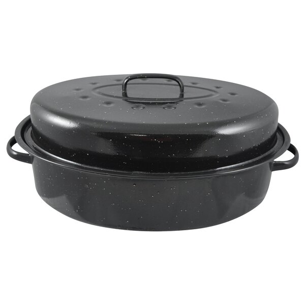19 Non-Stick Carbon Steel Roaster with Lid by HDS TRADING CORP