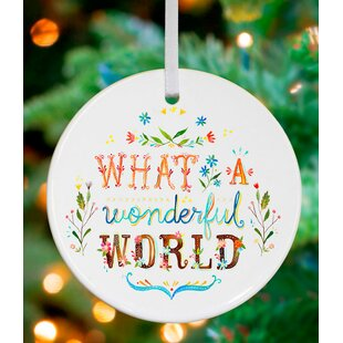 what a wonderful world personalized ornament by katie daisy