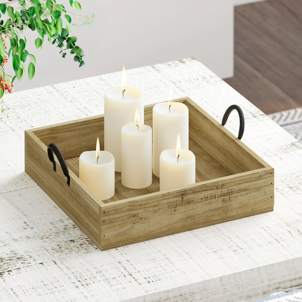 Square Rustic Wood Accent (Set of 2) by Front Of The House