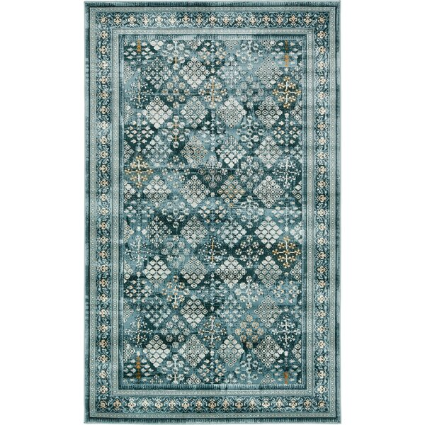 Miara Dark Blue Area Rug by World Menagerie