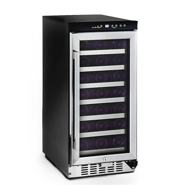 33 Bottle Single Zone Built-In Wine Cooler by Whynter