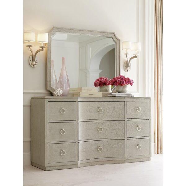 Cinema 9 Drawer Dresser with Mirror by Rachael Ray Home