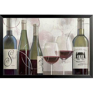 'Taste Appeal Red II Wine Bottles' by James Wiens Framed Graphic Art by Buy Art For Less