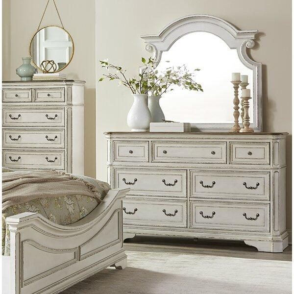 Castleford 7 Drawer Dresser with Mirror by Lark Manor