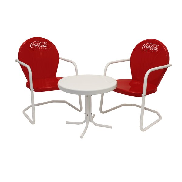 Coca-Cola 3 Piece Bistro Set by Leigh Country