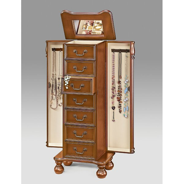 Ulises Wood Free Standing Jewelry Armoire by Darby Home Co