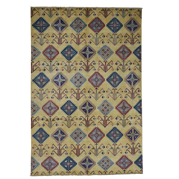 One-of-a-Kind Tillman Special Hand-Knotted Beige Area Rug by Millwood Pines