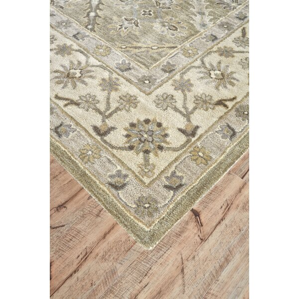 Corsham Hand-Tufted Sage Area Rug by Charlton Home