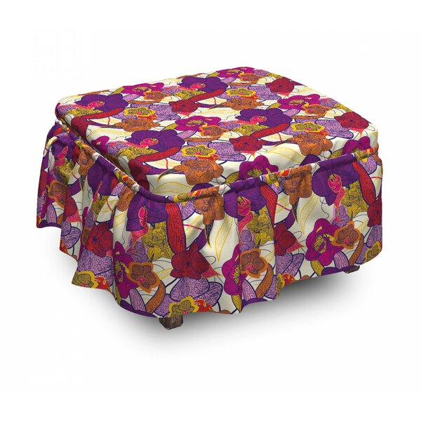 Vibrant Vintage Orchid Ottoman Slipcover (Set Of 2) By East Urban Home